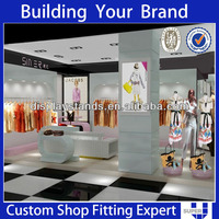 Custom made super u high quality retail fabric store equipment