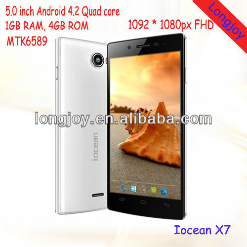 5'' FHD 1920x1080px Iocean X7 Phone Unlocked Android 4.2 MTK6589 Quad Core Smartphone