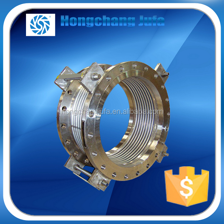 concrete metal welding flange type accordion bellows pipe vibration isolator