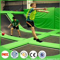 Largest Indoor Outdoor Customer Commercial Cheap Trampoline Park With Basketball Faom Pit Rope Park Ninja Course