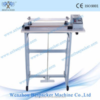 SF400 tea bags pedal type small sealing machine foil bags foot impulse sealing machine nylon sealing machine with cutter