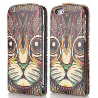 2014 New Design Special Tribal Pattern Vertical Magnetic Flip Leather Case for iPhone 6 4.7 inch