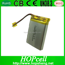 Rechargeable battery for remote control car 3.7v Li-polymer battery 103450 1800mAh