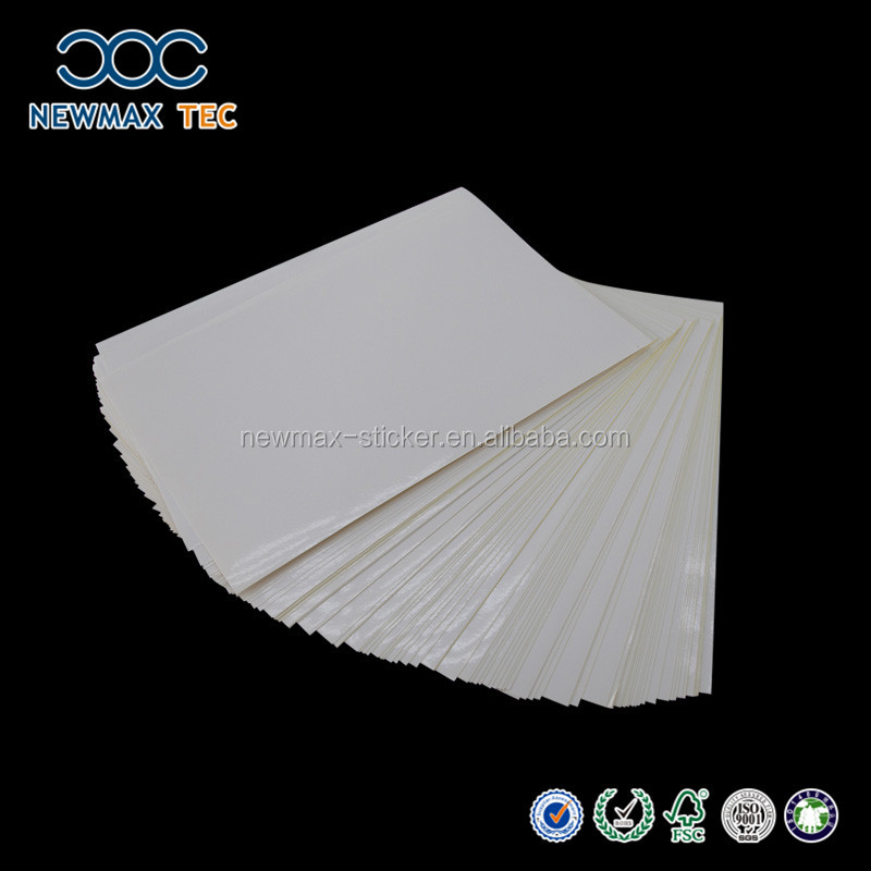 Self Adhesive acrylic Cast Coated Sticker Paper