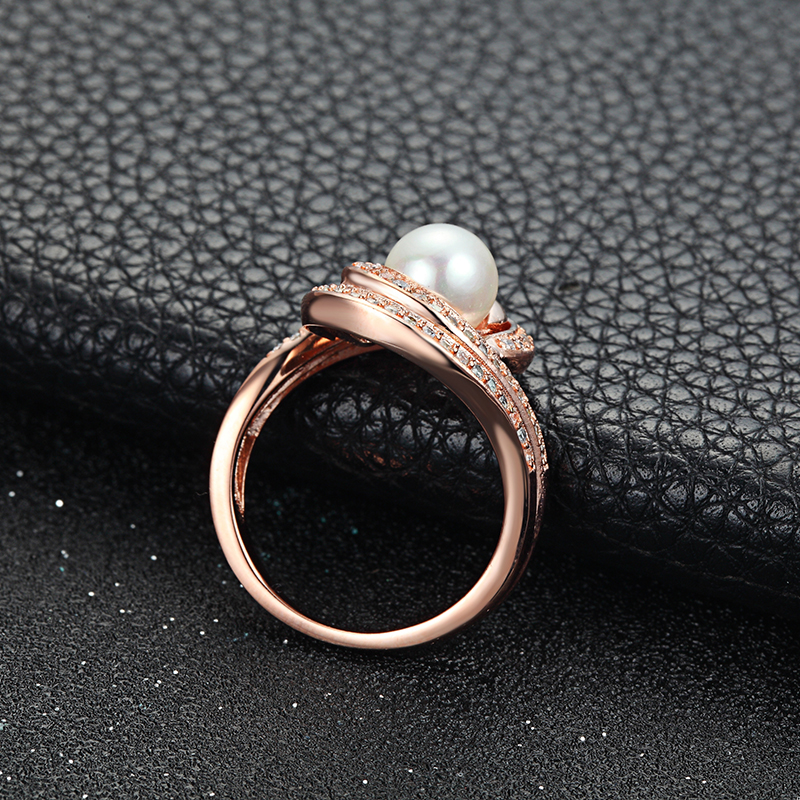 Latest Design Jewelry Sterling Silver Wedding Small Pearl Finger Rings