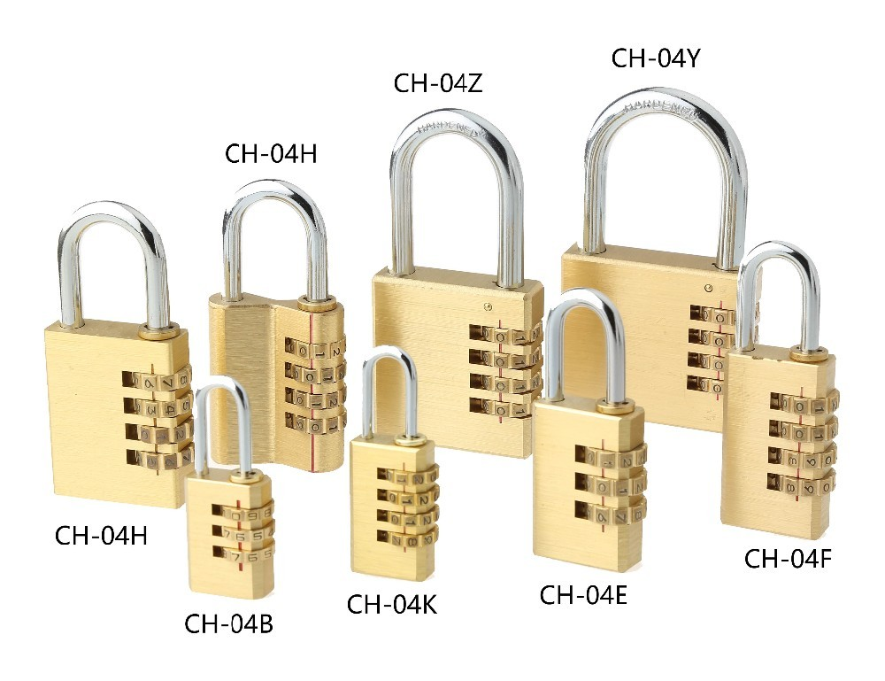 CH-04BTop-Quality 3 digital solid brass combination padlock