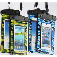PVC Material waterproof mobile Phone Bag cell phone bags Customized smartphone bag camouflage waterproof phone case