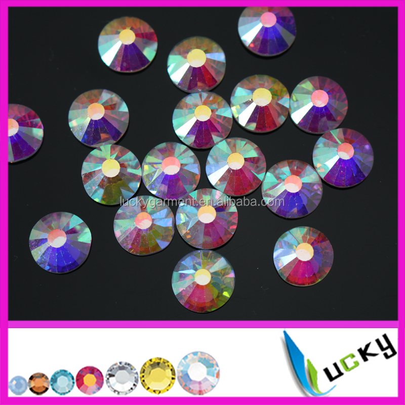 Wholesale large nail rhinestones ss50 crystal ab non hotfix flat foiled back strass 10MM