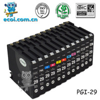 pgi29 printer inkjet cartridge, compatible PGI-29(with chip), for canon Pixma PRO-1
