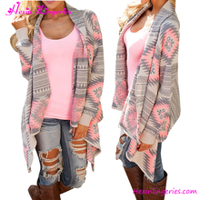 2017 Stylish Warm Sweater Printed Knitted Winter Autumn Long Sleeves Women Cardigan