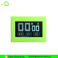 Multifunctional Green Color Touch Screen Digital Kitchen Timer
