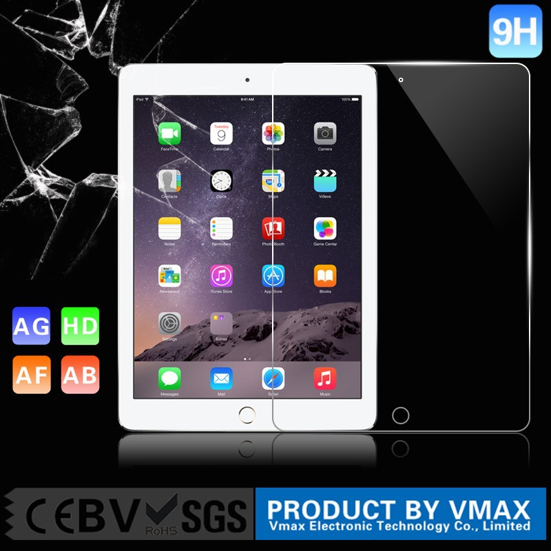Whole transparency Ultrathin Anti-static Anti blue light 9H tempered glass screen protector for IPad MIni or 7 inch tablet