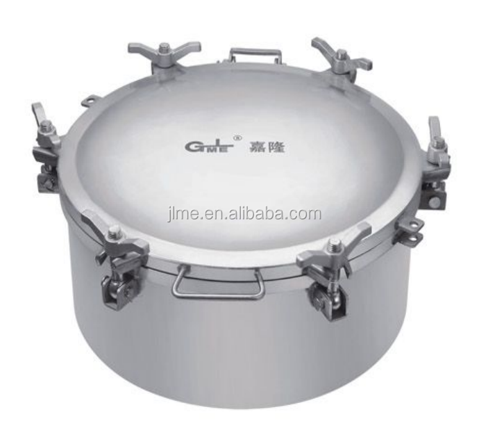 Road Fuel Oil Tanker Locking SS Stainless Steel Manhole Cover