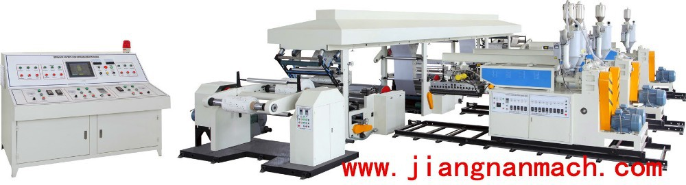 Automatic One Extruder Two T-Die Sandwich Materials Co-extrusion Coating Laminating Machine