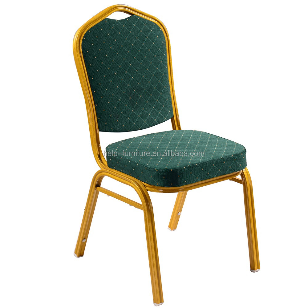 Cheap price steel banquet chair, gold banquet chair for rental