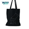 Backpacks plain black cotton tote shopping logo canvas travel bag