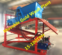 DME-50 30tph portable gold wash plant Refining Gold Machine