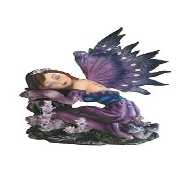 New Products 2014 Purple Sleeping Small Fairy Figurines