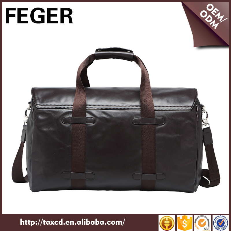 New style bag organizer travel vintage leather duffel bag for men