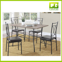 Middle size Beautiful rustic MDF wooden dining table set