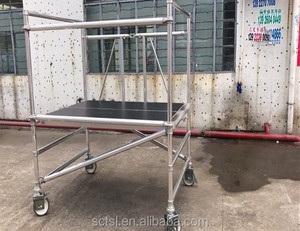 Construction companies Aluminum Mobile scaffolding for sale