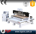 Made in China Guangdong multi head wood 3D cnc router machine, 4 axis cnc router,cnc carving machine with rotary