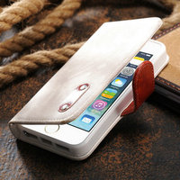 Super cute and functional leather wallet case for iphone5s, leather case for iphone5 5s