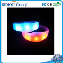 light up custom sound activated flashing led wristbands