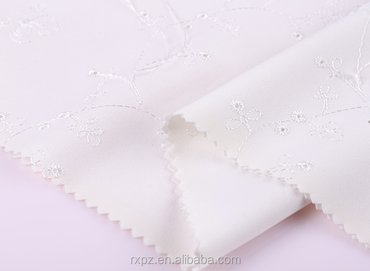 Fabric textile supplier Designer Fancy embroidered fabric