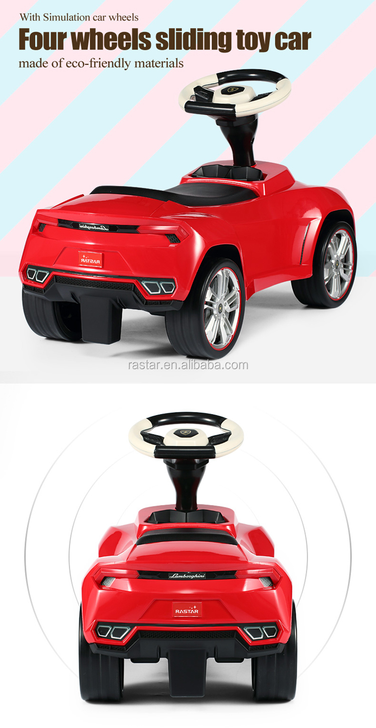 Lamborghini ride on toy leather car seats buy balance car from china