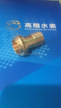 Brass water meter couplings customized 3/4'' x 1/2''