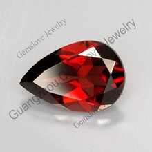 Loose Garnet Stone Wholesale Natural Red Garnet Pear Cut Loose Gemstone