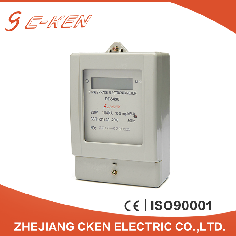 China Suppliers 50HZ 60HZ 220V KWH Meter Single Phase LCD Display Smart Electronic Energy Meter