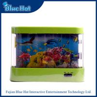 Wholesale high quality plastic toy aquarium fish tank with LED light