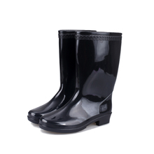 Rainboots PVC sexy lady Women's Mid-high Rain Boots half rainshoes galoshes fashion waterproof hot selling clear boots black