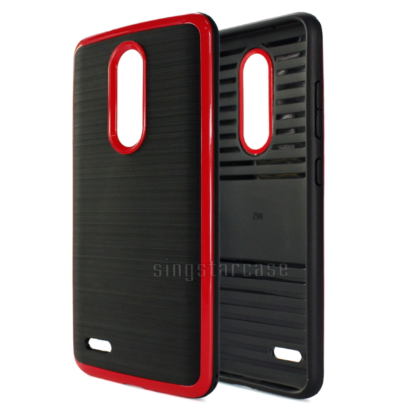 Three-piece Hybrid Rugged Impact Slim Armor Phone Case For ZTE Z MAX PRO Z981