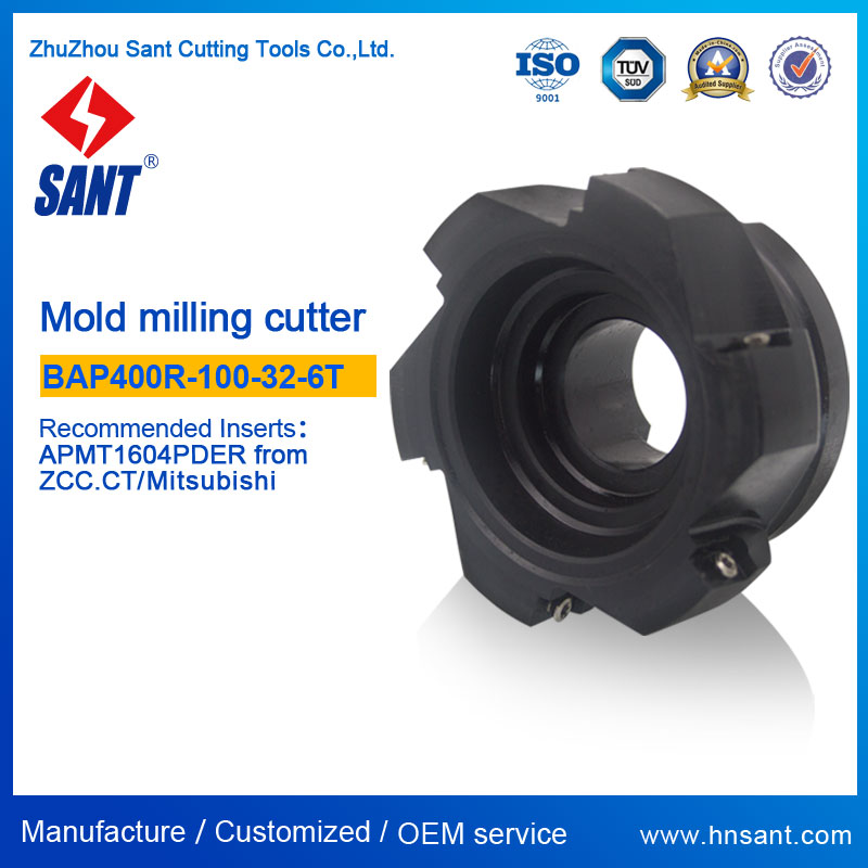 CNC Lathe Indexable Milling <strong>Cutter</strong>, Mold Milling BAP400R-<strong>100</strong>-32-6T Recommended Insert APMT1604PDER