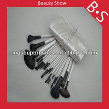 Professional 20pcs makeup brush set,cheap makeup brush set,leather bag package