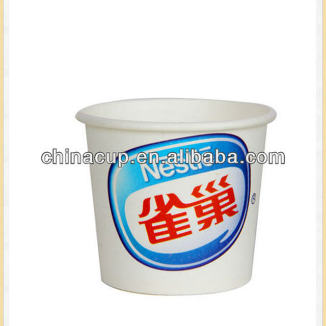Different size custom printed biodegradable ice cream cup