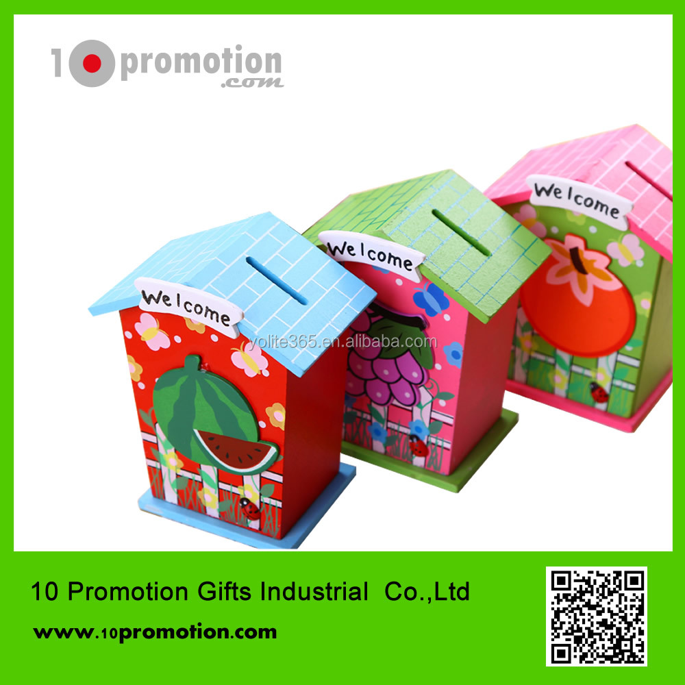 Lovely carton piggy bank/insect house change bank/for children gift