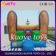 clown inflatable bouncer lovely inflatable bounce shose,kids jumping inflatable bouncer castle, jumping castles with prices