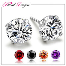 2017 new designs cheap sterling silver earring fashion simpe earring diamond stud for women