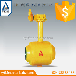 TKFM disigned API6D low torques gas media welded long stem ball valve