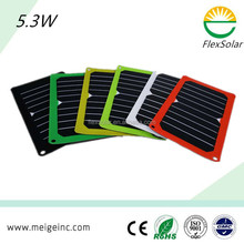 5W flexible solar panel system foldable solar charger bag solar power pack for outdoor use