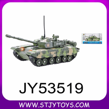 Battery operated 1:48 slide die cast tank model toy with light and music