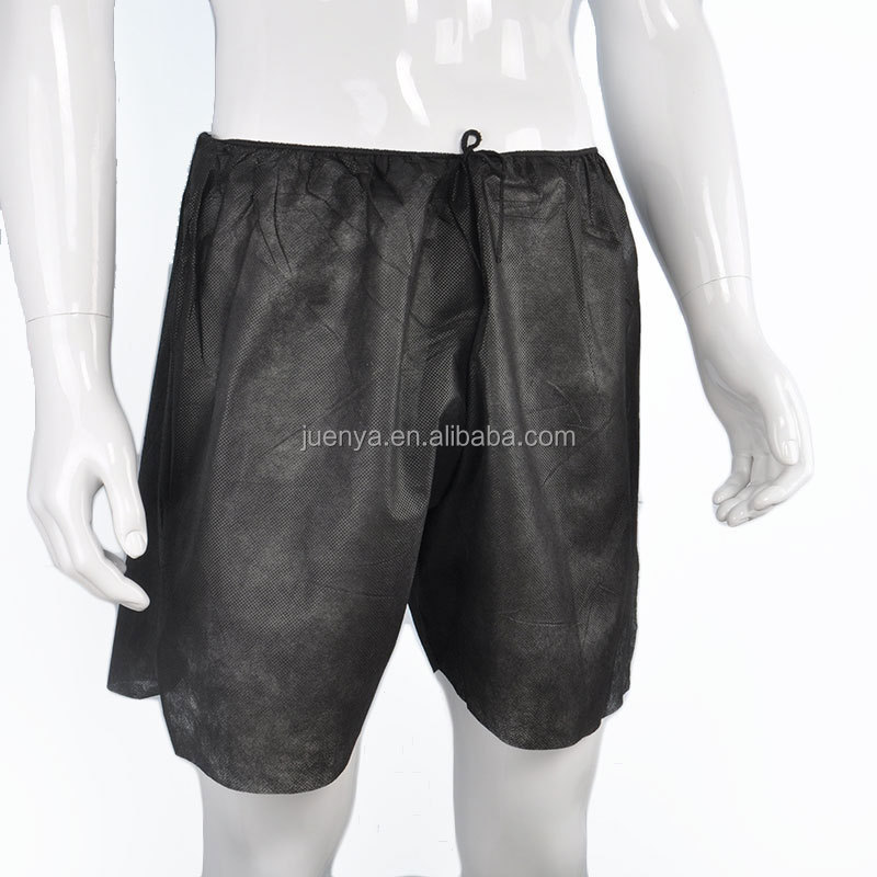 black disposable medical pants