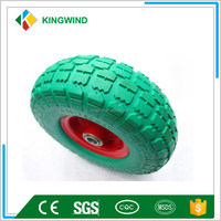 PU foam wheels 10 inch good elasticity for wheelbarrow and hand cart