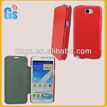 Hot Red Leather Cover For Samsung!For Samsung Galaxy Note 2 Flip Cover,N7100 Flip Cover,Leather Cover For Samsung Galaxy Note