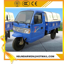 Best price open cab tipper tricycle 3 wheel garbage collector truck