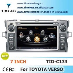 S100 Car Multimedia DVD for Toyota verso 2011-2012 year with A8 chipest, gps, bluetooth, sd, ipod, 3g, wifi